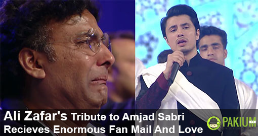 Ali Zafar's Tribute to Amjad Sabri Recieves Enormous Fan Mail And Love