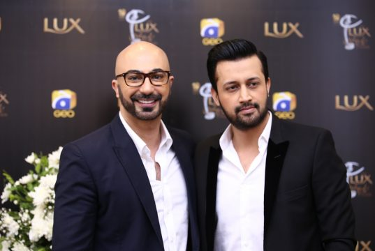 HSY and Atif Aslam at Lux Style Awards