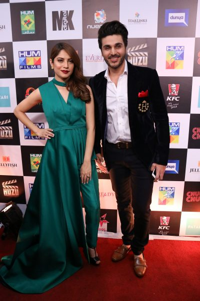 Ahsan Khan and Neelum Muneer at Chupan Chupai Premiere